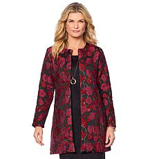 Slinky® Brand Long-Sleeve Brocade Jacket