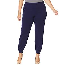 Slinky® Brand Luxe Crepe Jogger Pant with Pockets