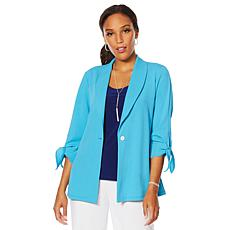 Slinky® Brand Luxe Crepe Shawl Collar Jacket