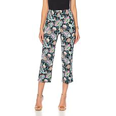 Slinky® Brand Printed Knit Basic Crop Pant