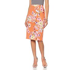 Slinky® Brand Printed Knit Textured Pencil Skirt