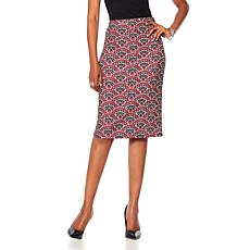 Slinky® Brand Printed Stretch Knit Pencil Skirt