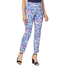 Slinky® Brand Printed Travel Stretch Tapered Ankle Pant