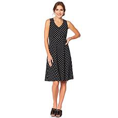 Slinky® Brand Sleeveless Printed Fit and Flare Dress