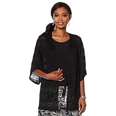Slinky® Brand Sweater Duster and Tank Top 2-piece Set