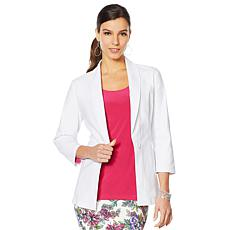 Slinky® Brand Travel Stretch Shawl-Collar Blazer