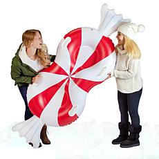 SnowCandy Peppermint Double Rider 2-Person Snow Tube