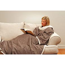Snuggie Sherpa Blanket with Oversized Sleeves