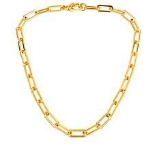 Soave Oro 14K Gold Electroform Elongated Oval Chain Necklace