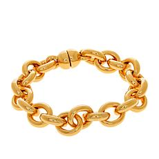 "Soave Oro 14K Gold Electroform Polished 8-1/4"" Rolo Chain Bracelet"