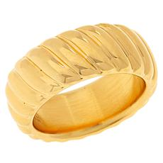 Soave Oro 14K Gold Electroform Ribbed Ring