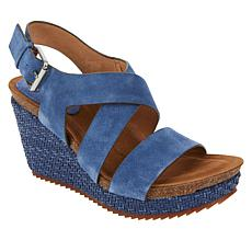 Sofft Haddison Leather Wedge Sandal
