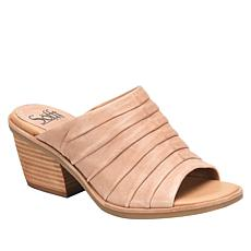 Sofft Pienza Pleated Leather Mule Sandal