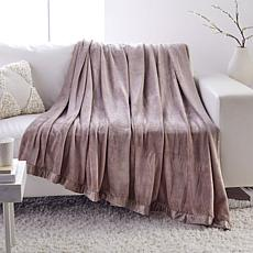 Soft & Cozy Blanket with Mink Trim