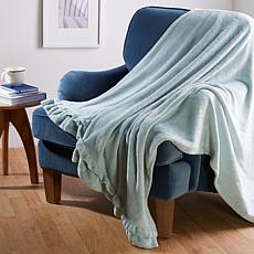 Soft & Cozy Chic Ruffle Trimmed Throw