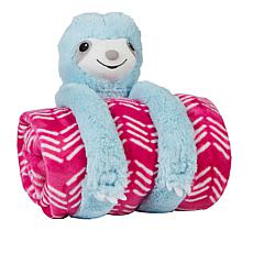 Soft & Cozy Huggable Animal Throw Gift Set