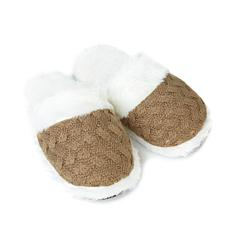 Soft & Cozy Loungewear Knit Mule Slipper with Faux Fur Trim