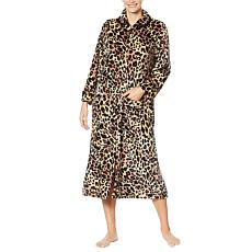 Soft & Cozy Loungewear Plush Zip-Front Long Robe