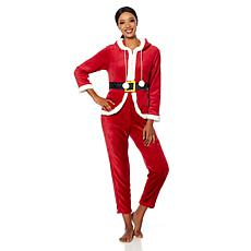 Soft & Cozy Loungewear Super Soft Hooded Holiday Jumpsuit