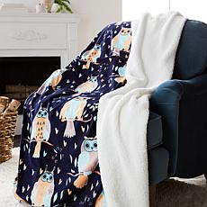 Soft & Cozy Plush Throw with Sherpa Trim