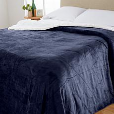 Soft & Cozy Quilted Sherpa Plush Blanket - King