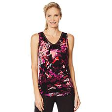 Soft & Cozy Reversible Neckline Tank with Chiffon Trim