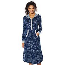 Soft & Cozy Ultra Knit Hooded Henley Lounge Dress
