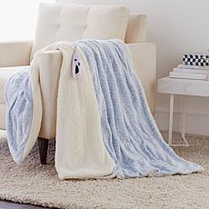 Soft & Cozy Velour & Sherpa Heated Throw
