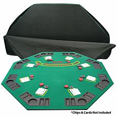 Solid Wood Two-Fold Poker and Blackjack Tabletop