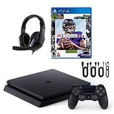 Sony PlayStation 4 Slim 1TB Console with Madden 21 & Universal Headset