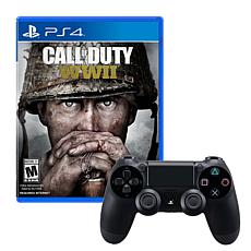 Sony PS4 Wireless DualShock 4 Controller with Call of Duty: WWII Game