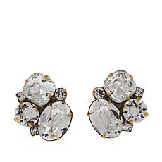 Sorrelli Jewelry Clear Crystal Cluster Stud Earrings