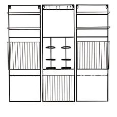 South Street Loft 3-piece Wall Wine Storage