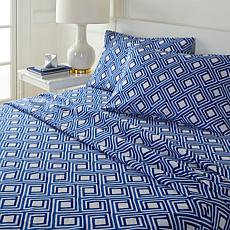 South Street Loft Printed Coastal 4-piece Sheet Set