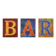 Southern Enterprises Calvert LED Bar Signs - 3pc Set