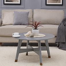 Southern Enterprises Carabelle Round Cocktail Table - Gray