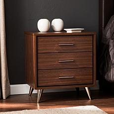 Southern Enterprises Ekstene Bedside Table - Walnut