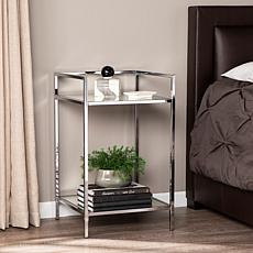 Southern Enterprises Keaton Bedside Table - Chrome