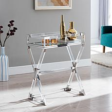 Southern Enterprises Norast Acrylic Serving Table - Polished Nickel