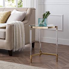 Southern Enterprises Renwick Acrylic End Table