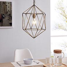 Southern Enterprises Ruhso Geometric Pendant Lamp - Antique Brass