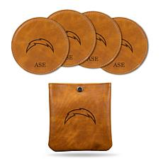 Sparo Brown Los Angeles Chargers 4-pack Personalized Coaster Set