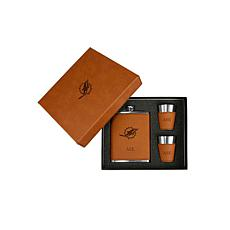 Sparo Brown Miami Dolphins Personalized Flask and Shot Set