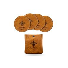 Sparo Brown New Orleans Saints 4-pack Personalized Coaster Set
