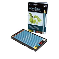 Spectrum Noir 12-piece AquaBlend Watercolor Pencil Set - Earth Tones