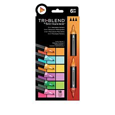 Spectrum Noir 6-piece Tri-Blend Marker Pens - Exotic Blends