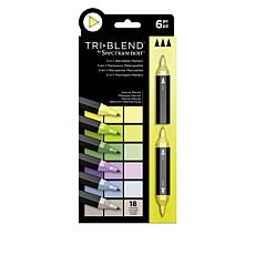 Spectrum Noir 6-piece Tri-Blend Marker Pens - Natural Blends