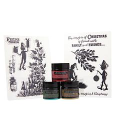 Spectrum Noir Magical Christmas Inks and Stamps Set