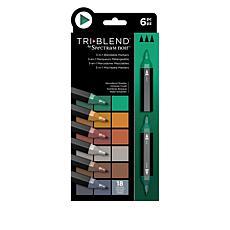 Spectrum Noir Tri-Blend Markers 6-pack - Woodland Shades