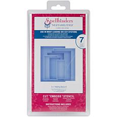"""Spellbinders Nestabilities Card Creator 5"""" x 7"""" Dies"""